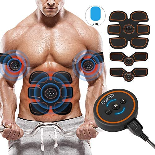 ROKOO Ultimate Abs Stimulator Muscle Stimulator Equipment for Men Women at Home Gym Office Travel 1