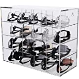 Advanced Displays in Plastic Safety Eyewear Organizer, Acrylic, 20 Slots, Wall-Mount/Benchtop