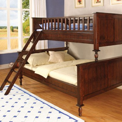 Milton Twin Over Full Bunk Bed (Twin Over Full Cherry Bed)
