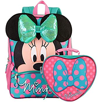 Amazon Com Disney Minnie Mouse 16 Quot Backpack And Lunch Bag