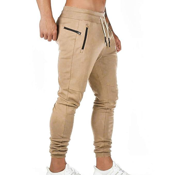 Puimentiua Pantalones de Chándal para Hombre Pantalones Largos ...