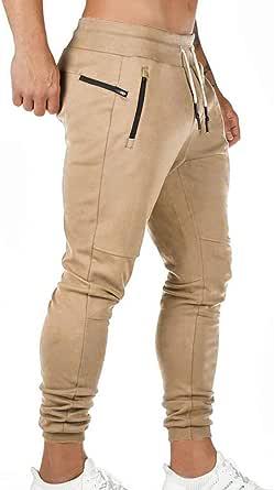 Litthing Pantalones Deportivos para Hombre Pantalones Jogger Deportivo Entrenamiento Fitness Pantalones Casual Deporte Slim Fit Cintura Elástica Ajustable