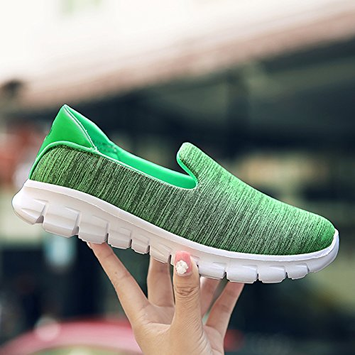 Womens Casual Fashion Slip-On Mesh Breathable Athletic Sport Running Shoes 3909 Green 9oB55I