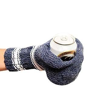 Suzy Kuzy Beer Mitt (OFFICIAL) - Knit Beer Mitt :: Blue / White