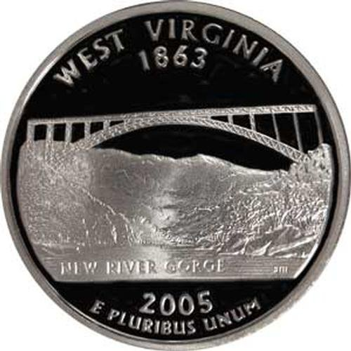 2005 West Virginia S Gem Proof State Quarter US Coin