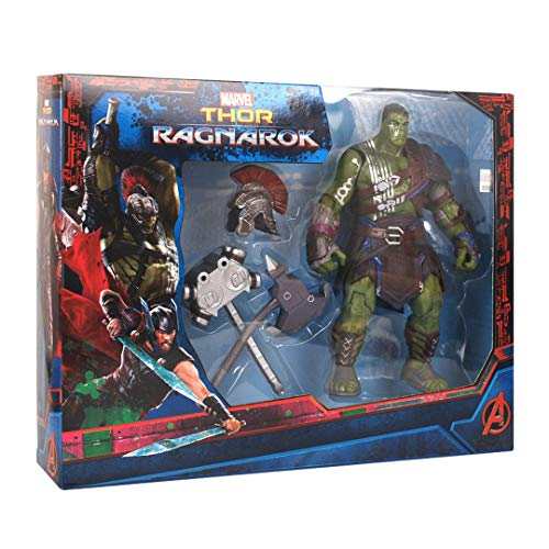 Avengers : Endgame Thor:Ragnarok Toys - Interactive Gladiator Hulk Action Figure hot Toys (with 1weapons+1 Helmet+ 1 Marvel Hero Keychain),8 inches