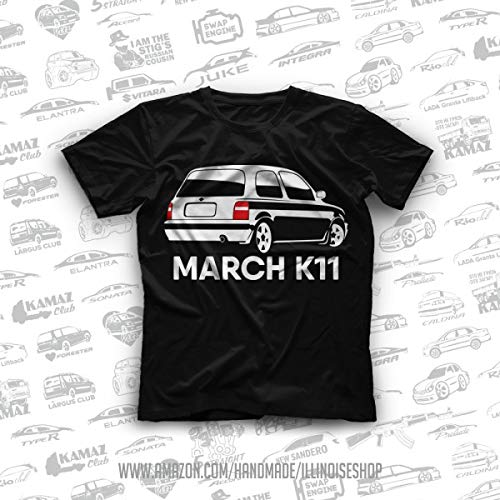 (Nissan Micra K11 / Nissan March K11 Original T-Shirts 100% Cotton Free Shipping)