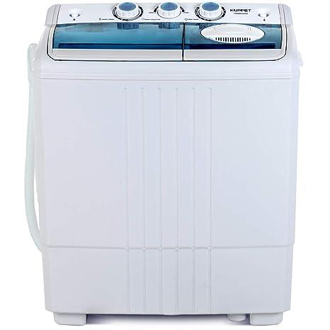 KUPPET Mini lavadora compacta de doble tubo portátil, capacidad de ...