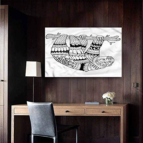Gabriesl 3D Murals Stickers Wall Decals Sloth Sloth Figure Artistic Rental House Wall Size : W28 x H20]()