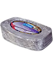 Kingfisher Foil Disposable Platters, Silver, 14-Inch, Pack of 20