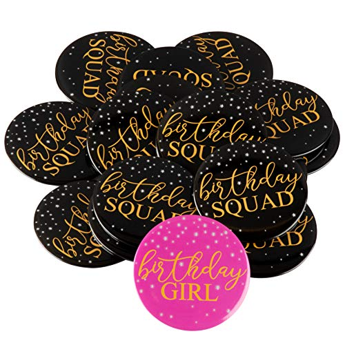Birthday Buttons for Women - 16-Pack