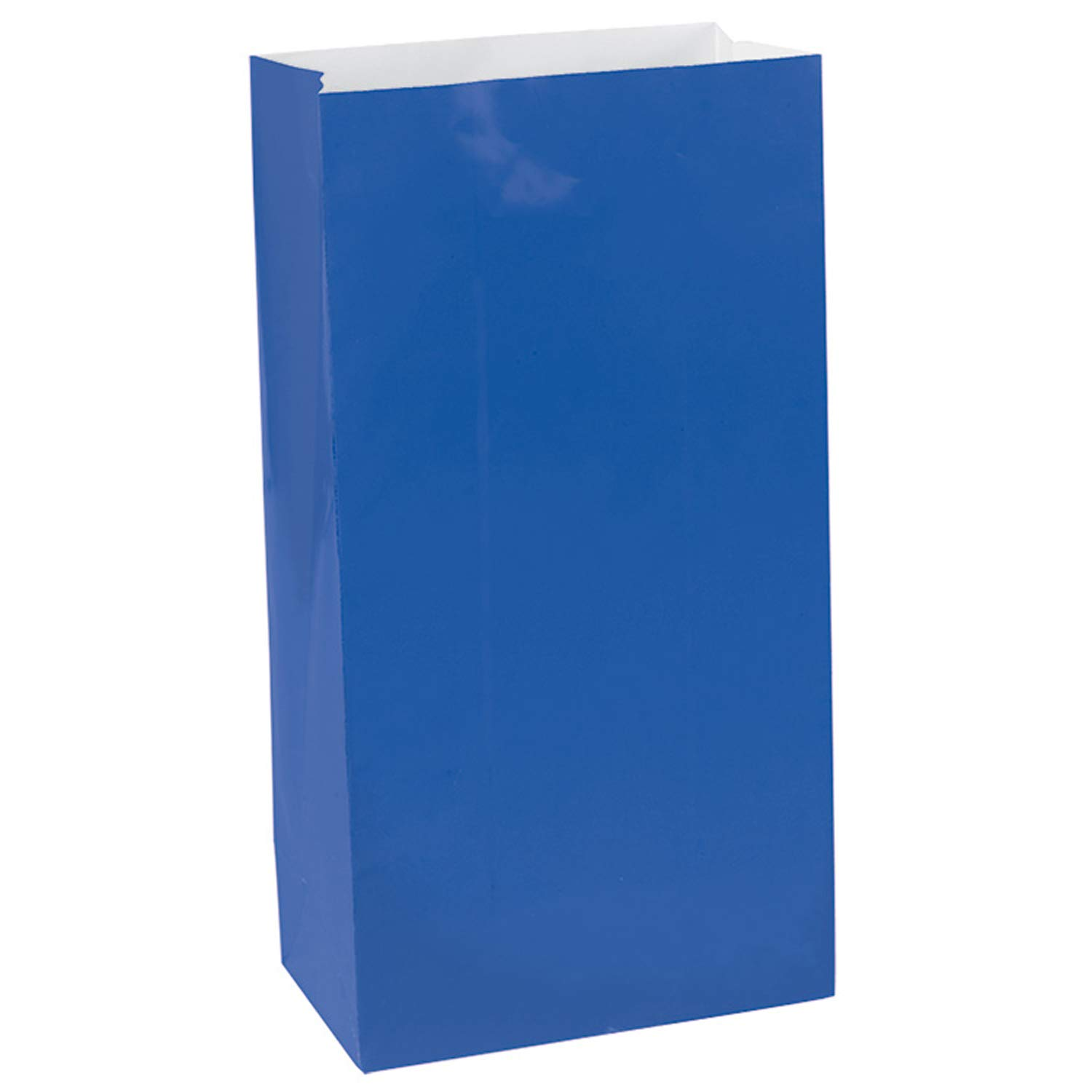 Royal Blue Pack of 12 6 x 3 x 2 Amscan 370202.105 Paper 6 x 3 x 2 Party Friendly Solid Color Mini Treat Bags
