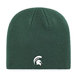 OTS NCAA Michigan State Spartans Men's Beanie Knit Cap, Team Color, One Size