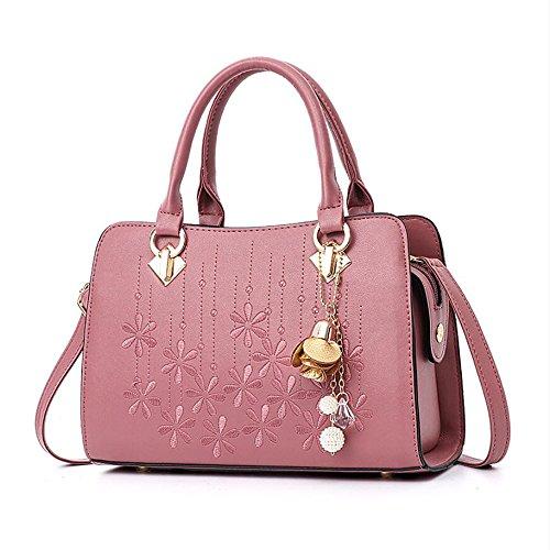 Bags Purses Handle Shoulder Women Bags Handbags Crossbody Leather Top OxsOy Fashion Pink Satchel Rubber pRnRPFvUT