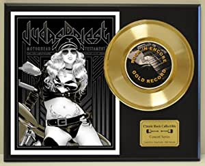 JUDAS PRIEST Limited Edition Gold 45 Record Display. Only 500 made. Limited quanities. FREE US SHIPPING