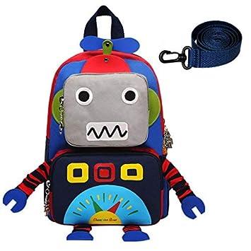 mochilas niños - Robot de dibujos animados 3D Niños Mochilas Niños Jardín de infantes Bolsas de escuela lindo Mochila de viaje Al aire libre Casual Daypack: ...