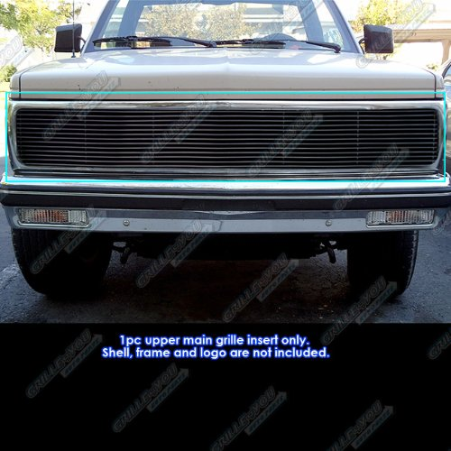 APS Compatible with 1991-1993 Chevy S10 1991-1994 Blazer Black Phantom Billet Grille Grill Insert S18-H23258C ()