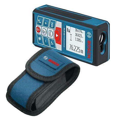 Messerschiene, Micro-USB-Ladeger/ät, Messbereich: 0,05 /– 80 m, Neigungs-//Messgenauigkeit: /± 0,2/º // /± 1,5 mm Bosch Professional Laser-Entfernungsmesser GLM 80 R 60