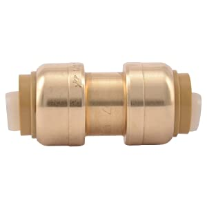 SharkBite 1/2-Inch Straight Coupling, Push-to-Connect, PEX, Copper, CPVC