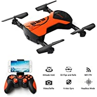Koeoep Mini Pocket Selfie Drone Air Pressure Altitude Hold Quadcopter Photography Wifi FPV With 3MP Camera Phone Control Helicopter