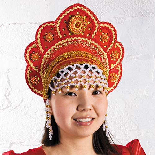Russian Folk Costume 'Kokoshnik' Headdress in -