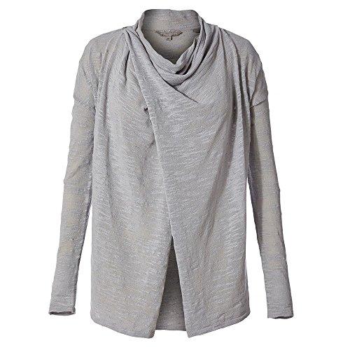 Royal Robbins Women's Tupelo Slub Cardi Sweater, Light Pelican, Large