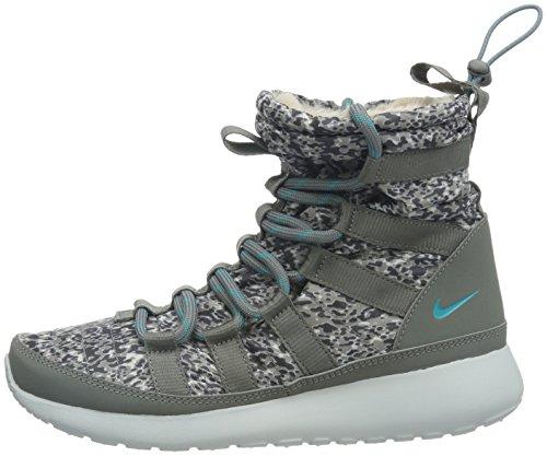 Amazon.com | Nike Women's Wmns Rosherun Hi Sneakerboot Print, LIGHT ASH/DUSTY  CACTUS-MDM ASH-LGH, 6 US | Shoes