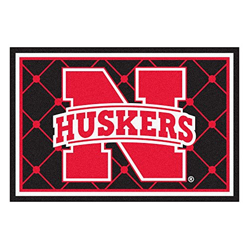 FANMATS NCAA University of Nebraska Cornhuskers Nylon Face 5X8 Plush Rug