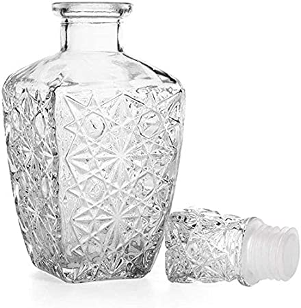 HLR Vasos de Whisky Jarra de Whisky Decantadores de Whisky de garrafa for espíritus 1PC Venta Vaso de Whisky Licor Bebe Vino Decanter 500 ml 850 ml Botella cristalina del Vino de la Jarra