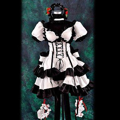 Haruhi Suzumiya schwarzen und weißen Cosplay,Maßgeschneiderte,Größe S  Höhe 155cm-160cm