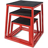 Titan Fitness 12'' 18'' 24'' Plyometric Box Set HD Step Cross Plyo Jump Exercise