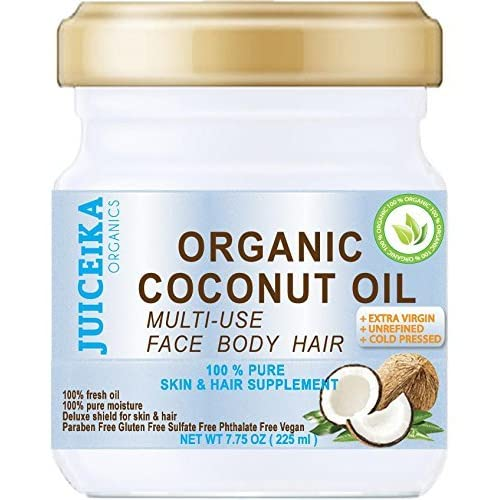 100 % PURE ORGANIC COCONUT OIL. EXTRA VIRGIN / UNREFINED COLD PRESSED. 100% Pure Moisture . Skin & Hair Supplement. 7.75 OZ ( 225 ml )