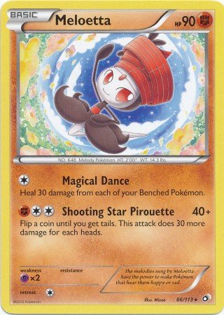 Pokemon - Meloetta (86/113) - Legendary Treasures (Meloetta Card)