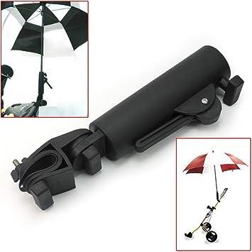 Muttify Soporte para Paraguas de Carrito de Golf, ángulo y Ancho Interno Ajustable, Soporte