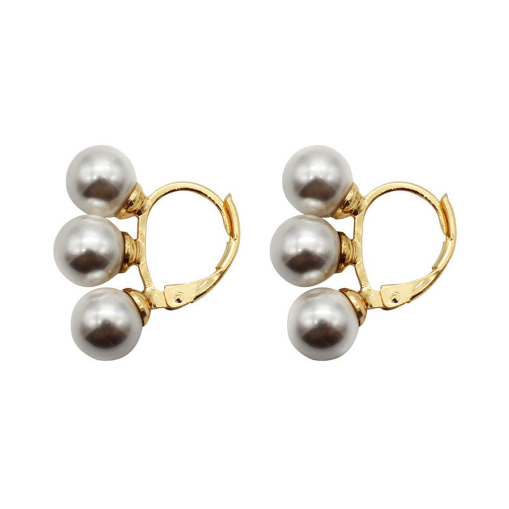 DearAnswer Simulated Pearl Earring Simple Design Ear Cuff Ear Jacket Jewelry Accessories for Ladies,Champagne