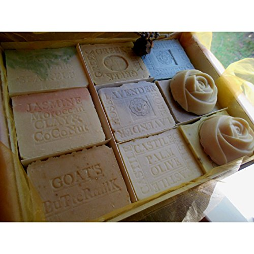 Twelve Bar Soap Gift Set Mom and Baby Variety Artisan Soaps - Include one Aged Large Bar Natural Handcrafted Soap by Natural Handcrafted Soap
