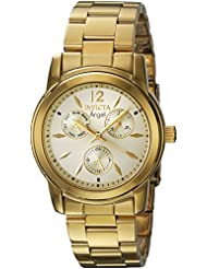 Invicta Womens Angel Quartz Stainless Steel Casual Watch, Color:Gold-Toned (Model: 21691)