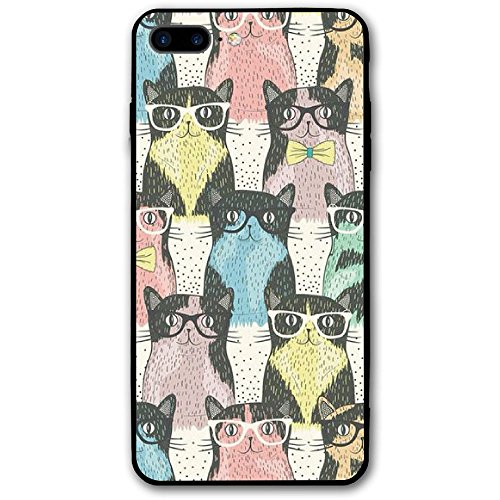 Cats Glasses Cute Iphone8 Plus Case Mobile Phone Protection Shell Unique Design Anti-skid Function Slim Fit Iphone8 Plus 5.5 Inch - Buy Online Cheap Uk Glasses