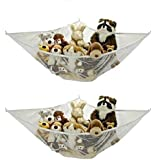 Jumbo Toy Hammock - 2 PACK - Organize stuffed animals or children's toys with this mesh hammock. Looks great with any décor while neatly organizing kid's toys and stuffed animals. Expands to 5.5 feet.