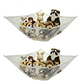 Jumbo Toy Hammock - 2 PACK - Organize stuffed animals or children's toys with this mesh hammock. Looks great with...