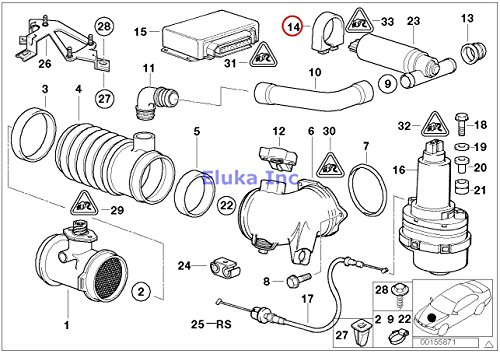 BMW Genuine Carburetor Fuel Injection Rubber Mounting D=46MM 840Ci 840i 740i 740iL 530i 540i 740i 740iL 540i 540iP M5 Z8