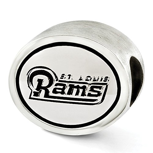 (Jewelry Beads Themed Sterling Silver Antiqued St. Louis Rams NFL Bead)