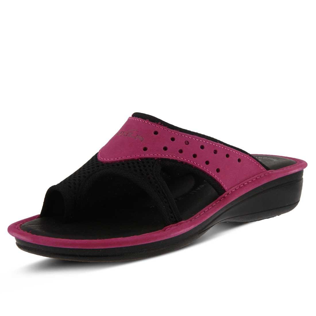 Pascalle Slide Sandal B01N0FRPOR 42 M EU|Fuchsia Nubuck/Black Mesh