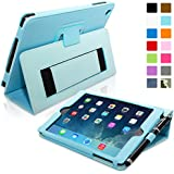 Snugg Leather Flip Stand Case for Apple Mini 1 / 2 - Baby Blue