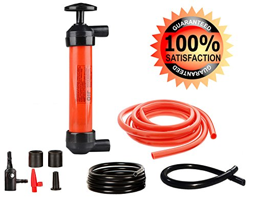 3-In-1 Hand Fuel Pump Manual Liquid Transfer Hand Pump&Siphon Pump&Inflator With User Manual - By (Manual Water)