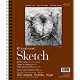 """Strathmore 455-3 400 Series Sketch Pad, 9""""x12"""" Wire Bound, 100 Sheets"""