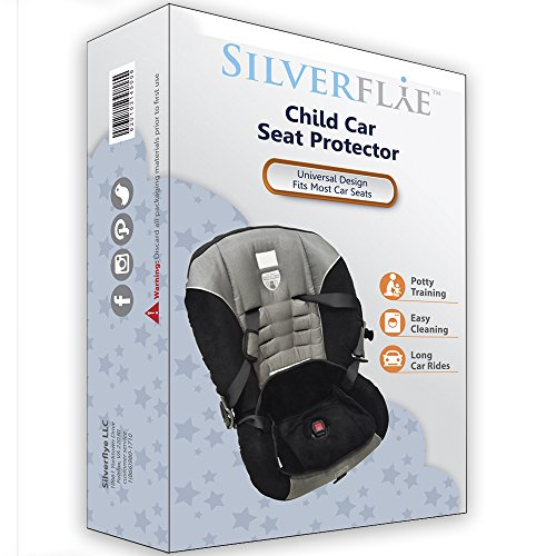 Piddle Pad Car Seat Protector by Silverflye- Crash Test Safety Certified- Waterproof Liner- Potty Training Seat Saver Pads for Infants Baby and Toddlers- Leak Free Technology- Machine Wash and Dry by Silverflye (Image #8)