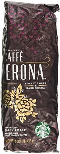 Starbucks Caffe Verona Dark Roast Whole Bean Coffee - 16 Ounce. (1 Lbs)