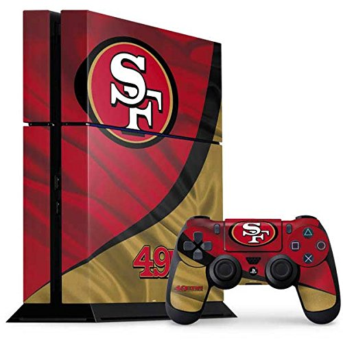 Skinit NFL San Francisco 49ers PS4 Console and Controller Bundle Skin - San Francisco 49ers Design - Ultra Thin, Lightweight Vinyl Decal Protection