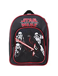 Star Wars Official Childrens/Kids The Force Awakens Elite Squad Twin Pocket Backpack (One Size) (Black)